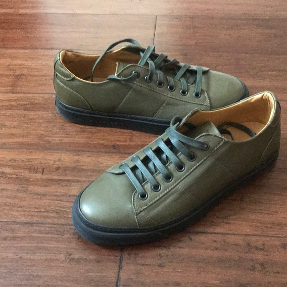 69dff2f783 Marc Jacobs Men s Green Leather Sneakers 11 45